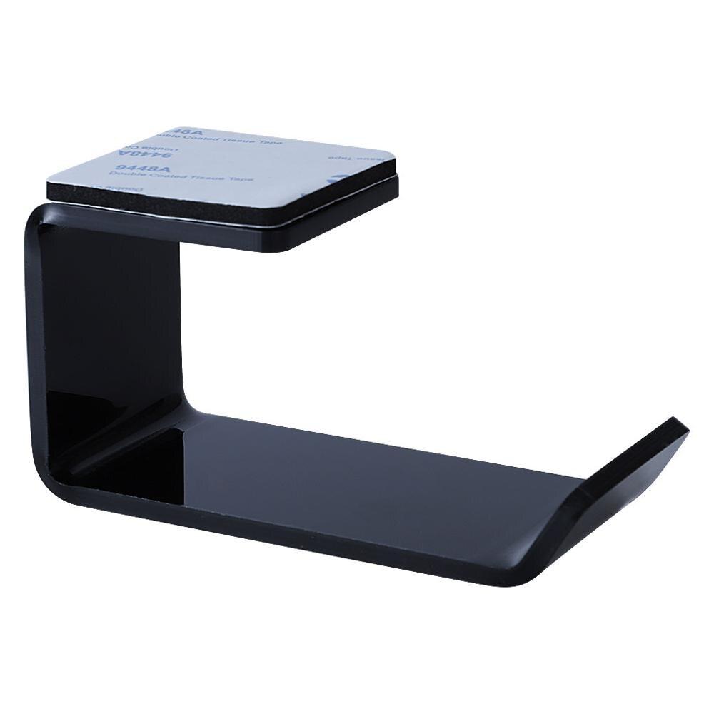 Sticker Acrylic Headphone Bracket Wall Mounted Headset Holder   Hanger Under Desk Hook Earphone Sticky Display Stand 4