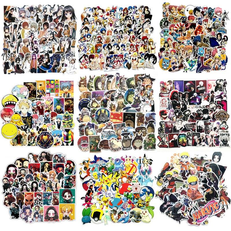 50Pcs Japan Anime Stickers Classic Fashion Style Graffiti Stickers For Moto Car Suitcase Laptop Cartoon Skateboard Sticker F3