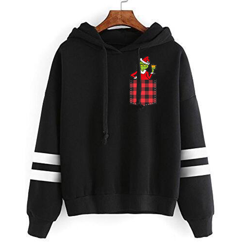 Grinch Sweatshirt Women Clothes Print Sweatshirts Streetwear 2019 Festival Clothing Harajuku Hoodie Casual