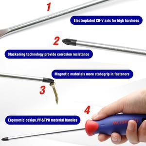 Image 2 - WORKPRO 8 dans 1 Fendue Phillips Tournevis Magnétique Tournevis de Précision Outil De Réparation Ensemble pour le Téléphone portable Électronique