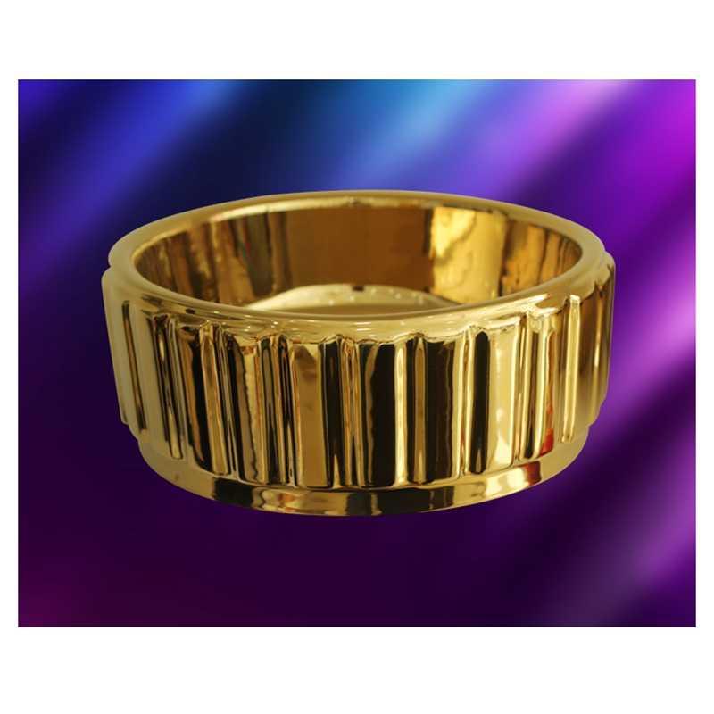 Salon Kéo Vàng Màu Lưu Vực Vàng Cao Cấp Gốm Sứ Mạ Tròn Handbasin Lật Số Để Bàn Chậu Rửa Nhà Tắm Hình Tròn Bồn Rửa Chén + Điện