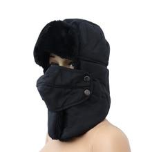 Cap Earmuff-Mask Black Outdoor Cycling-Cap Bike Motorcycle Thicken Winter Windproof Keep-Warm