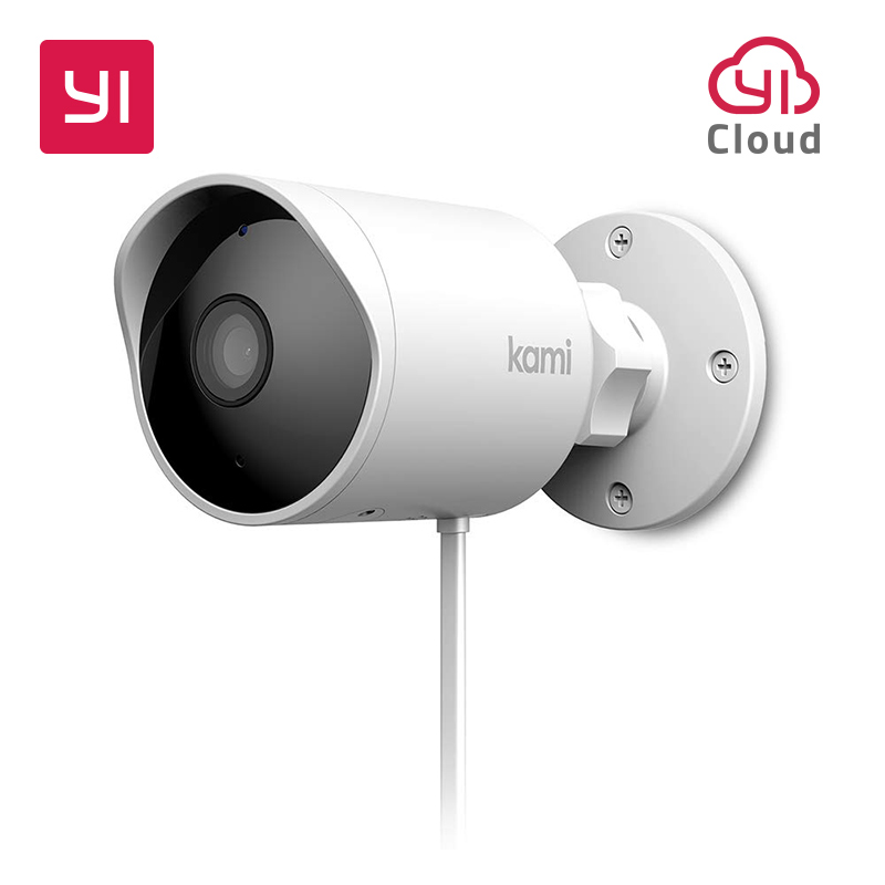 Kami Smart Outdoor Security Camera 1080P YI Cam AI-Powered Surveillance System Human Detection Starlight Night Vision Cloud