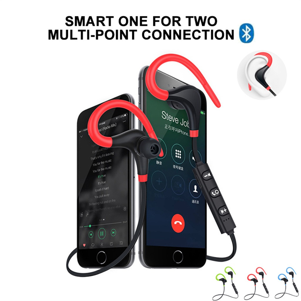BT4.1 Bluetooth Earphone Wireless Headset with Microphone for All Phone Earbud Sport