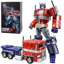 Wj transformação robô g1 mpp10 masterpiece MPP-10 liga 33cm reboque caminhão recipiente op comandante ko figura de ação modelo brinquedos