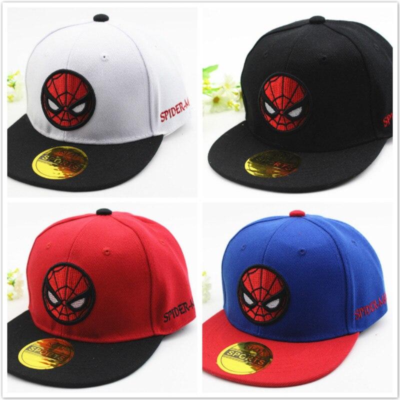 Новинка 2020, детская хлопковая бейсболка с вышивкой в стиле фильма «Человек-паук», детская шапка в стиле хип-хоп для мальчиков и девочек, Весе...