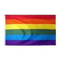 90*150 см гомосексуалист Филадельфия Филли ЛГБТ, гей-Прайд Радуга флаг для украшения
