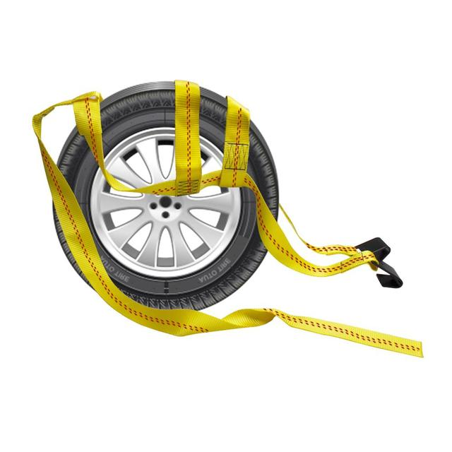 Sangles de panier de voiture   2 pièces, crochet de Traction réglable pour jeu de filets de roues, accessoires de roues de voiture, pièces de Traction