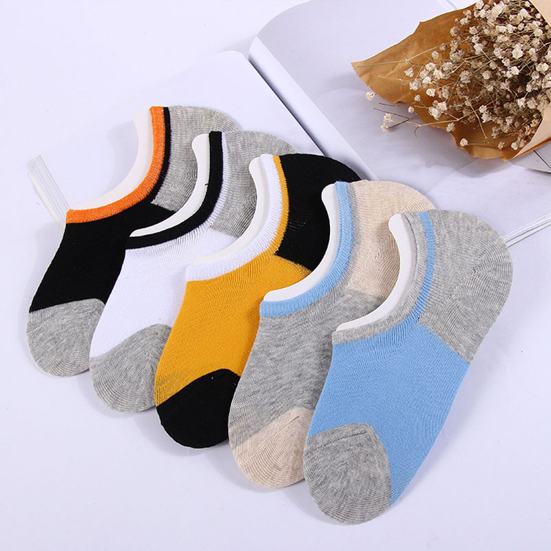 Socks Men Spring and Summer Cotton Men's Invisible Socks Color Mix Casual Shallow Mouth Boat Socks Men's Socks