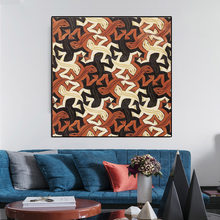 Poster Wall Art Canvas Painting Modular Pictures Modern Abstract House Lizard Group Diagram Nordic Style Home Decoration Printed(China)