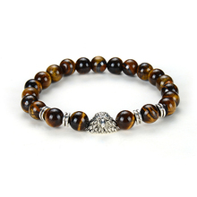 KAMAF The new 2019 creative design tigers eye bracelet with charm release lady chains of valentines day gift