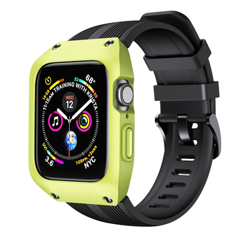 Case+strap For Apple Watch 5 band 44mm 40mm iWatch band 42mm 38mm Accessorie Waterproof Silicone bracelet Apple watch 6 5 4 3 SE