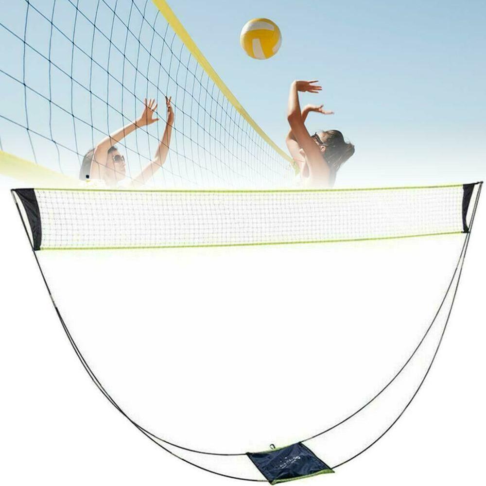 3M Portable Badminton Net Frame Support Tennis Volleyball Training Square Mesh Tennis Net Square Shuttlecock Network Badminton