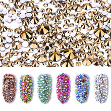 Polairs SMC SS3 SS30 et mélange taille Cristais pierre Mine or Non Hotfix Strass Art des ongles Strass