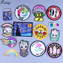 Pulaqi Parches Bordados Para La Ropa Badges Embroidered Patches For Clothing Iron On Clothes DIY Applique Harry Patch