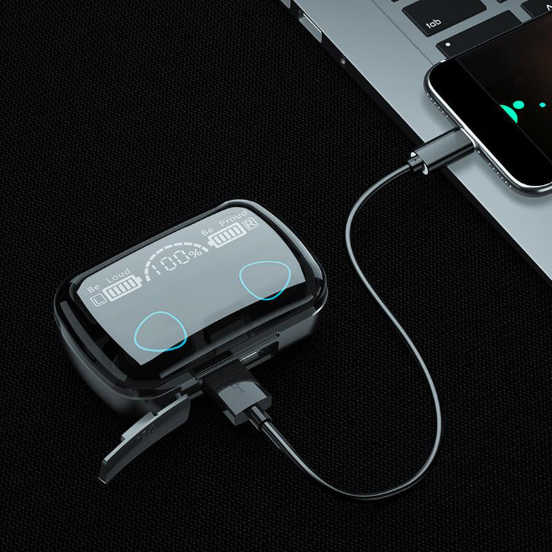 TWS Bluetooth 5.1 Earphones Charging Box Wireless Headphone 9D Stereo Sports Waterproof Earbuds Headsets With Microphone 5
