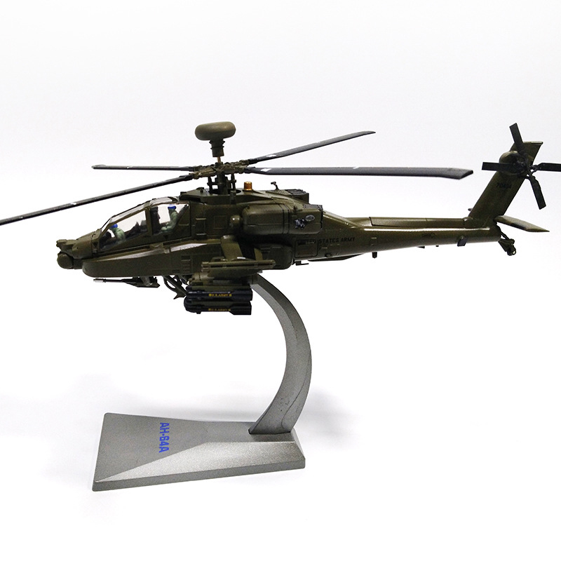 1/72 Scale Alloy Helicopter Hunship AH-64 Aircraft US Army Apache Fighter Model Toys Children Kids Gift for Collection