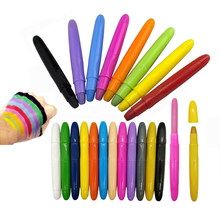 LANDZO Kid Adult Makeup Toy 12 Colors Body Paint Pen,Painting Stick for Hair,Face,Paper Drawing Crayon Washable Twistable Crayon