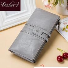 Women Wallets 100% Genuine Leather Women's