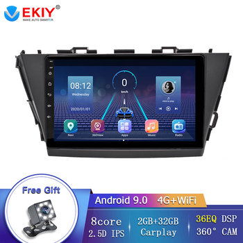EKIY For Toyota V Plus Prius Alpha 2012-2015 Android 9.0 Car Radio GPS Multimedia Screen Navigation Stereo no 2 Din DVD Player image