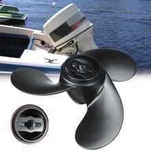 Nowy 309-64106-0 aluminiowa łódź morska śmigło dla Nissan Tohatsu Evinrude Johnson 2.2-3.3HP czarny 3 ostrza 7.4x5.7 R obrót