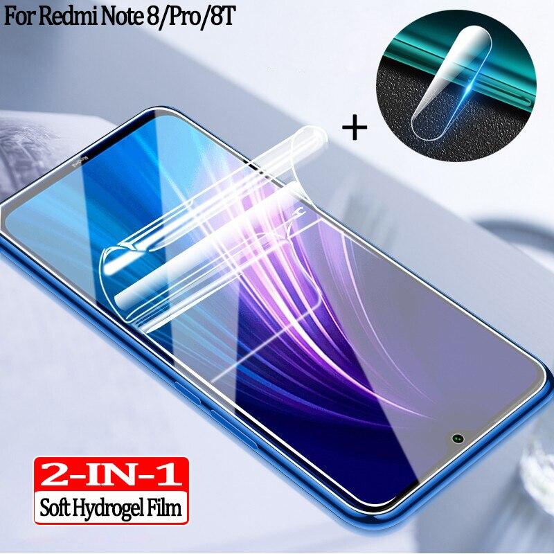 Hydrogel Film+camera Glass For Redmi 8t Screen Protector Redminote 8 T Note8 8pro Protective Glass Redmi Note 8 Pro Accessories