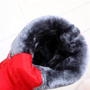 Image 5 - MORAZORA 2020 جديد جلد البقر الثلوج أحذية النساء أسافين الأحذية منصة مقاوم للماء سميكة الفراء الدافئة الشتاء أحذية السيدات نصف بوتاس