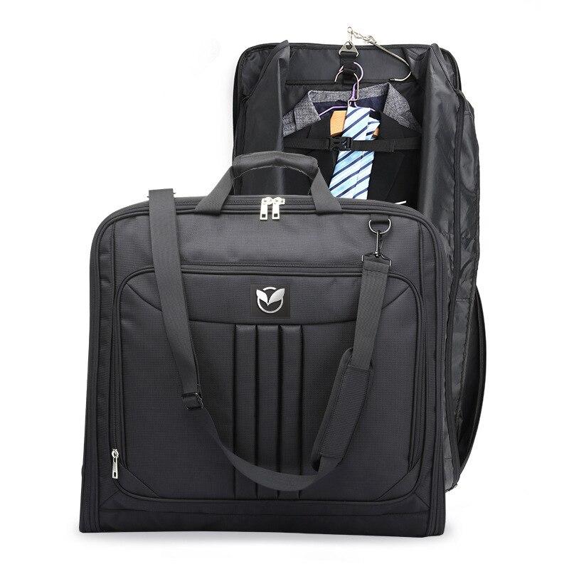 Multifonctionnel hommes d'affaires voyage sac étanche bagages sacs sac à main pour ordinateur portable résistant à la poussière costume sac de rangement avec pochette de chaussures