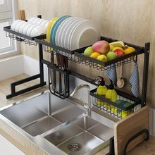 Стабильная Нержавеющая сталь Кухня стеллаж для выставки товаров раковины сушилка для посуды слив сушилка для посуды хранилище для кухонной утвари поставки подшипник 40 кг