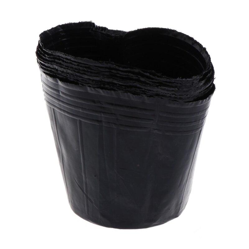 Plastic Nursery Pot Plant Seedling Pouch Holder Raising Bag Home Garden Supply