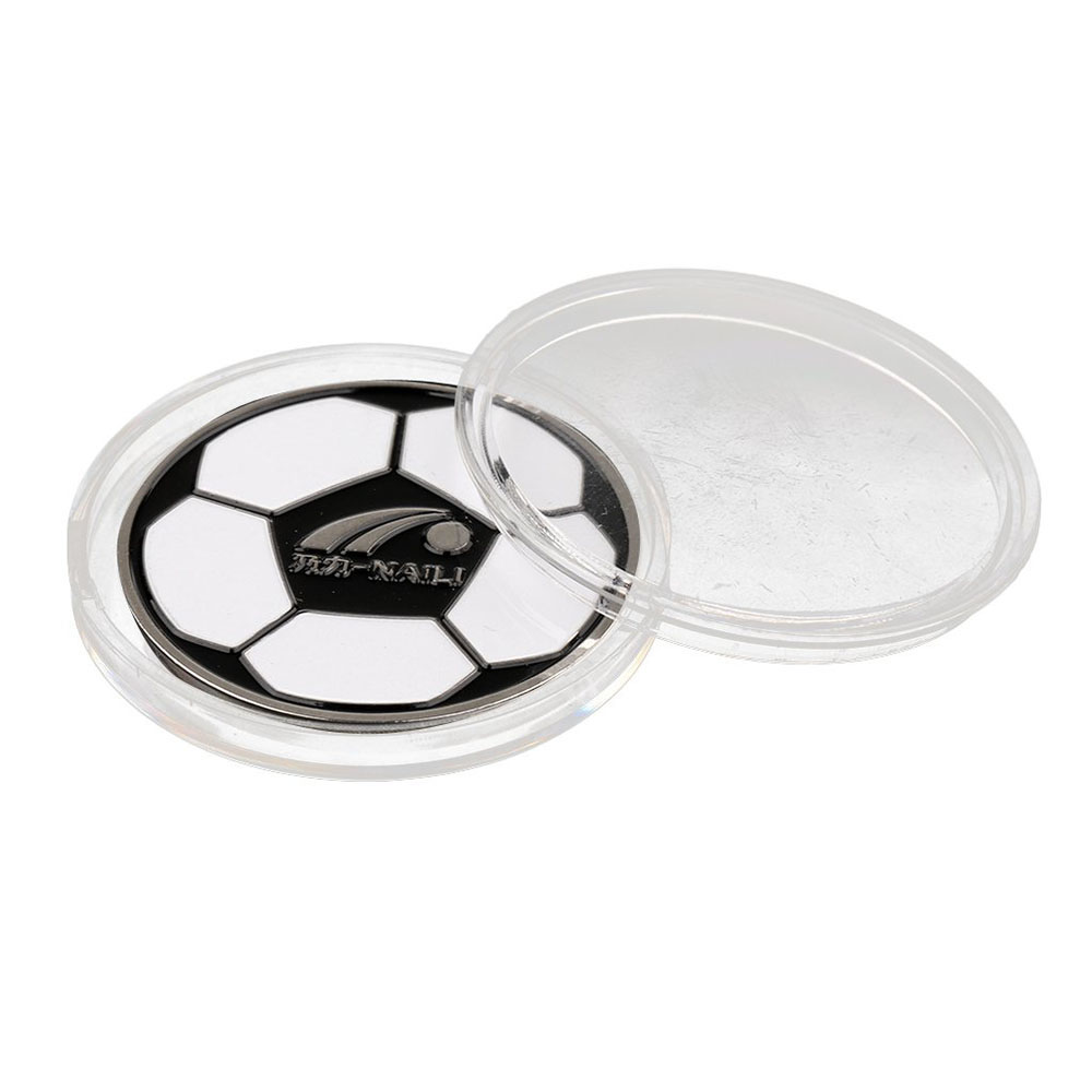 1x Football Soccer Referee Flip Coin Judge Toss Coin With Plastic Carry Case