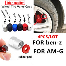 4 pçs de alumínio carro pneu roda válvula caule tampões para mercedes benz amg a b r g classe glk gla c200 e200 acessórios do carro