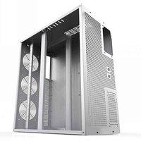 6/8 GPU Vertical Type Graphics Server Chassis MicroATX ITX ATX 4U Mining Machine Chassis With Dual Power Supply Design