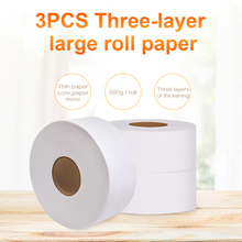 3pcs Soft Toilet Paper 900+sheets 580g/Roll Soft Toilet Tissue Home Bath Toilet Roll Paper Towels Water Absorption