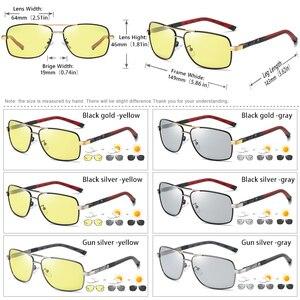 Image 5 - Marca de design moda óculos fotocromáticos polarizados óculos de sol homem dia noite visão segura condução feminino camaleão uv400
