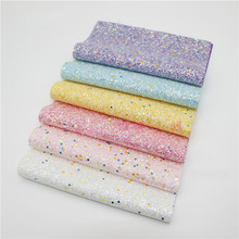 6PCS 20x22cm Shinny Glitter Fabric  DIY Sewing Patchwork Faux Leather Upholstery Fabric  Hnadicarft DIY Bow Accessories Material 6pcs 20x22cm shinny glitter fabric diy sewing patchwork faux leather upholstery fabric hnadicarft diy bow accessories material