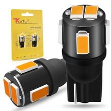 цена на 2x T10 W5W Led Bulbs 194 168 3014SMD Auto Car LED Dome Map light Trunk License Plate Light bulbs for cars 12V Amber Orange white