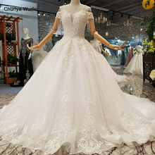 LS932475 organza appliques wedding dress 2018 off the shoulder sweetheart flowers wedding gown buy direct from china factory(China)