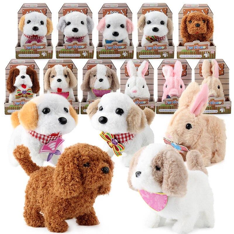 2020 New Arrival Cute Can Walk Electric Plush Toy Pet Dog Corgi Teddy Dog Bunny Child Birthday Gift Stuffed Animal