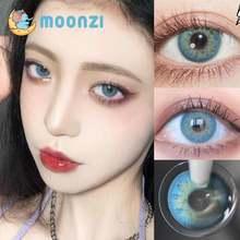 Moonzi для русских девушек; Синий сумасшедшие контактные линзы