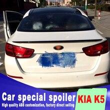 цена на ABS high quality 2014 2015 for kia Optima K5 spoiler rear trunk roof wing rear spoiler K5 primer paint or balck white color
