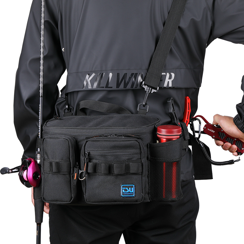 TSURINOYA Multifunction M/XL Size Fishing Lure Bag Outdoor Large Capacity Waterproof Hip Bag Shoulder Bags Fishing Tackle