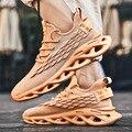 Homens sapatos de malha beathable masculino sapatos casuais novos leve mosca tecer sapatos masculinos tênis tenis masculino adulto mais tamanho 48