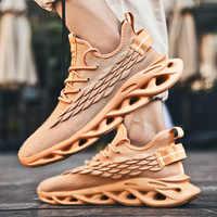 Zapatos de hombre de malla Beathable hombres zapatos casuales nuevos zapatos ligeros de tejido de mosca hombres zapatillas Tenis Masculino Adulto de talla grande 48