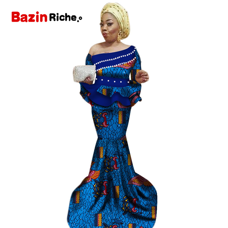 new africa dashiki skirt set african traditional clothing for women Bazin Riche plus size skirt set print ladies clothes WY2467 in Africa Clothing from Novelty Special Use