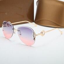 Pilot Women Sunglasses Women Gradient Color Round Glasses Lady Vintage Fashion S