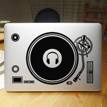 Стикер для ноутбука dj technics наклейка apple macbook air pro