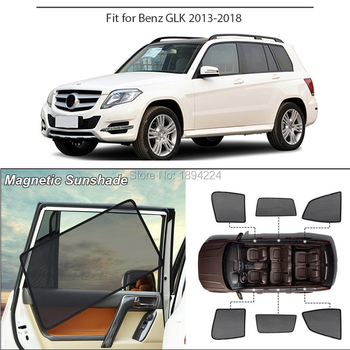 Car Full Side Windows Magnetic Sun Shade UV Protection Ray Blocking Mesh Visor For Mercedes-Benz GLK