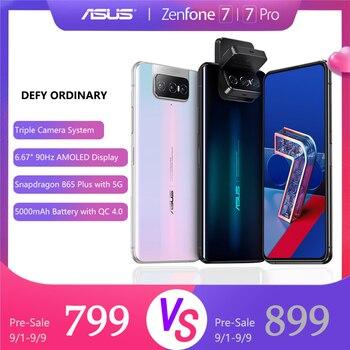 Купить ASUS Zenfone 7/ 7pro Snapdragon 865/865 Plus NFC Android OTA 5000 мАч QC 4,0 8 Гб RAM 128/256 ГБ ROM 6,67 дюймдисплей смартфона