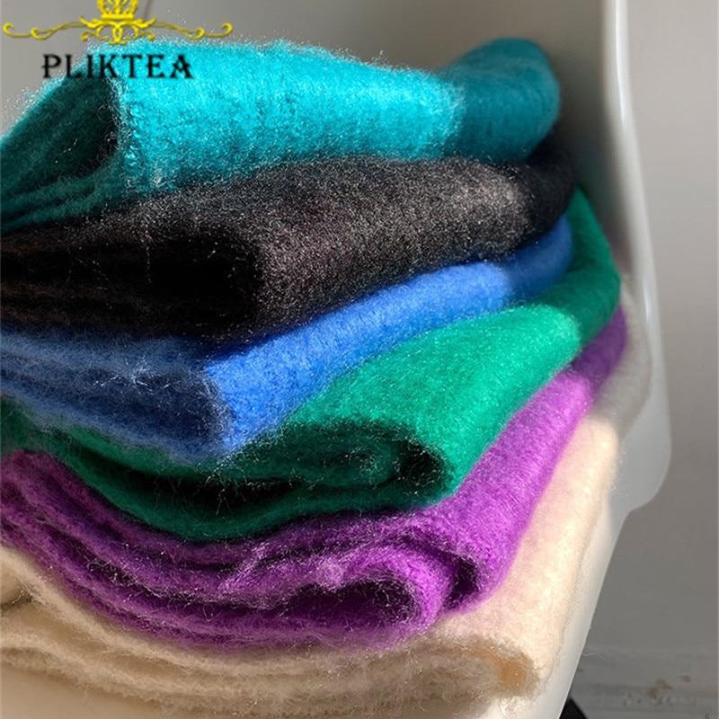 New 220 *32cm Soft Mohair Long Scarf For Women Thick Winter Scarves Faux Cashmere Blue Beige Purple Khaki Female Warm Scarfs